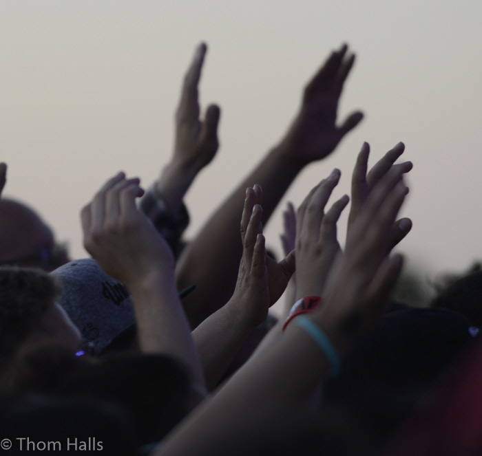 Throughout the weekend during music and message, hands were raised in praise.