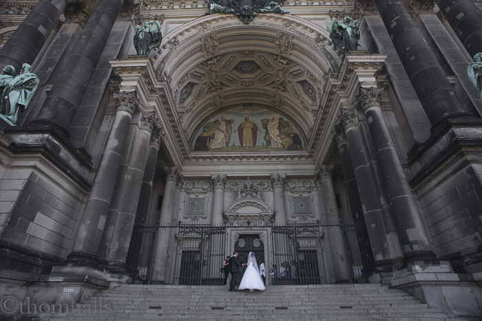 Wedding day, Grand Cathedral, Berlin, Germany